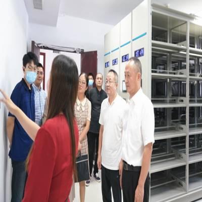 温州市档案局局长徐伟中至市现代集团调研档案数字化建设工作